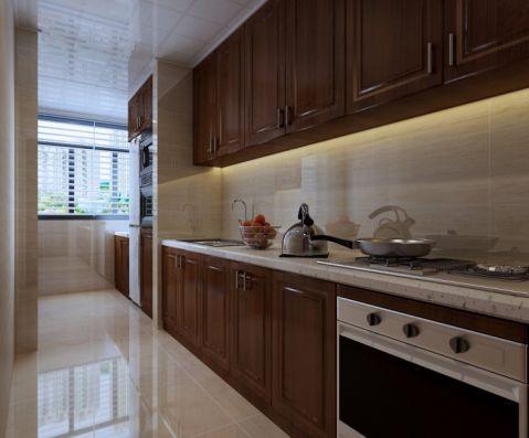 厨房背景墙新中式风格装潢设计图片