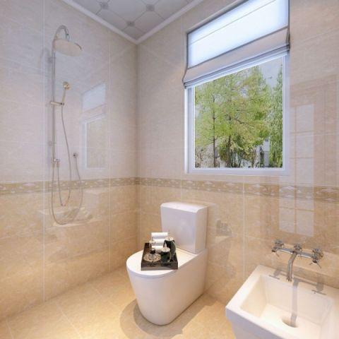 卫生间窗帘现代简约风格装修设计图片