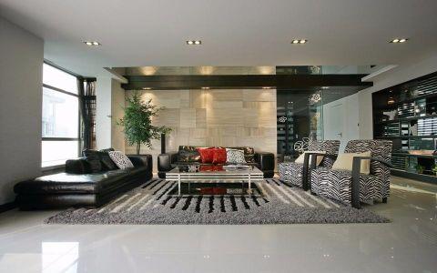 丽都世家现代风格 三室二厅效果图