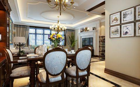 餐厅照片墙美式风格效果图