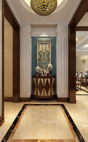玄关照片墙美式风格装饰效果图