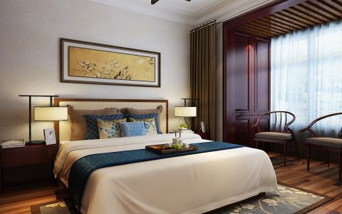 卧室照片墙新中式风格装潢图片