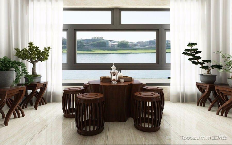 阳台白色窗帘中式风格装饰设计图片