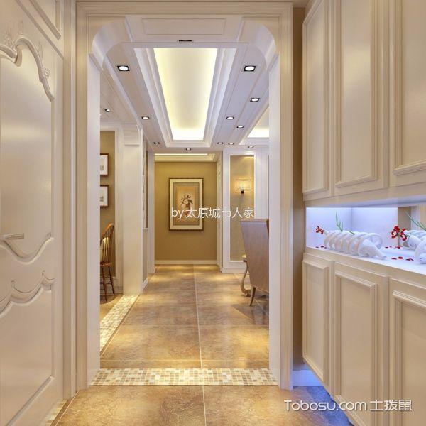 玄关白色鞋柜现代简约风格装饰效果图