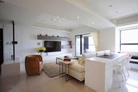 15万预算127平米三室两厅装修效果图