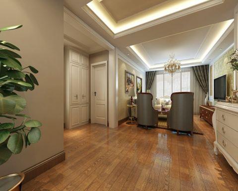 玄关背景墙新古典风格装潢效果图