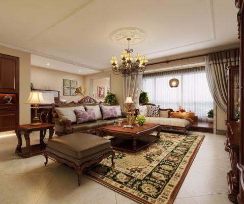 客厅窗帘新古典风格效果图