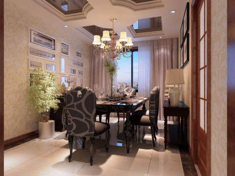 餐厅吊顶美式风格装修效果图