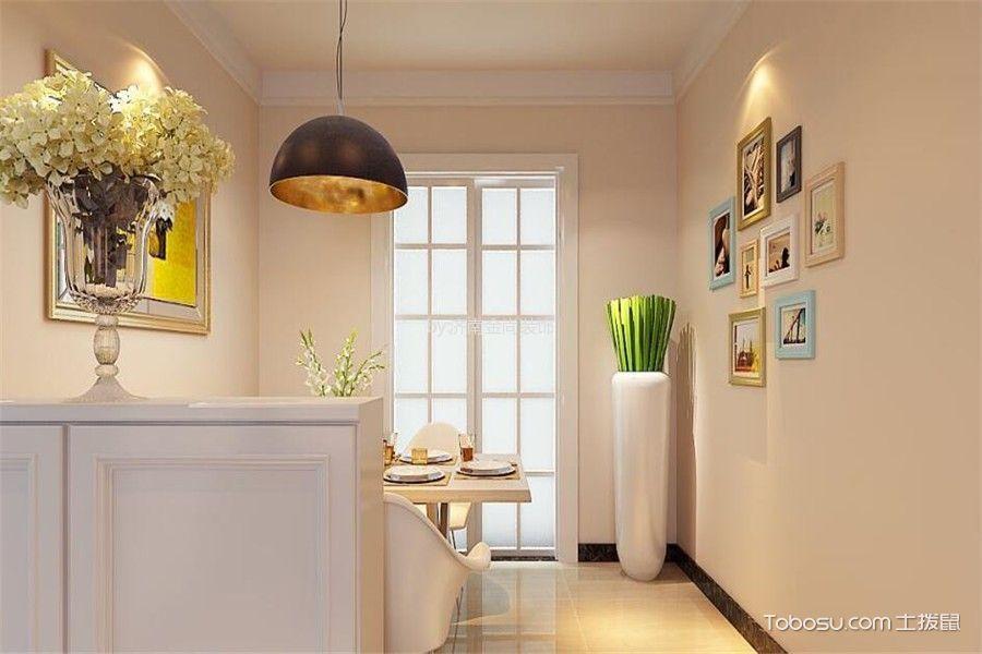 餐厅白色推拉门现代简约风格装修图片