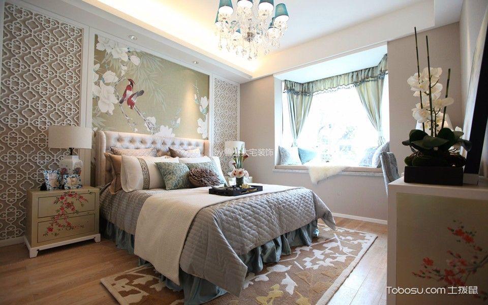 卧室白色飘窗新中式风格装修效果图