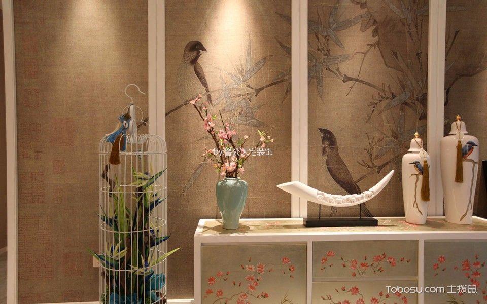 客厅白色细节新中式风格装饰效果图