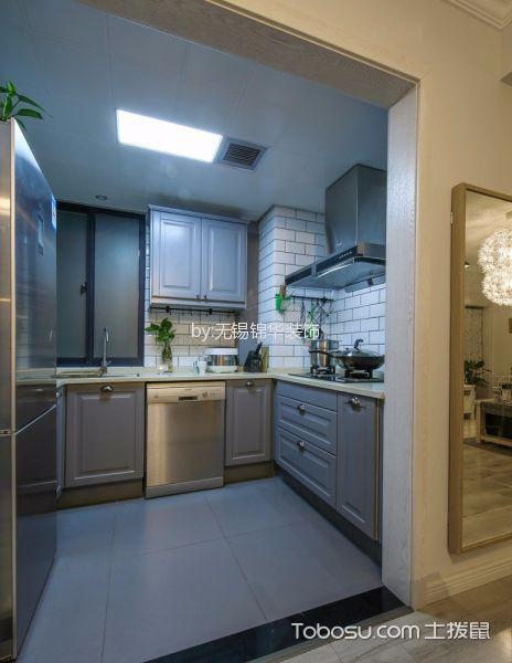 厨房白色吊顶混搭风格装修效果图