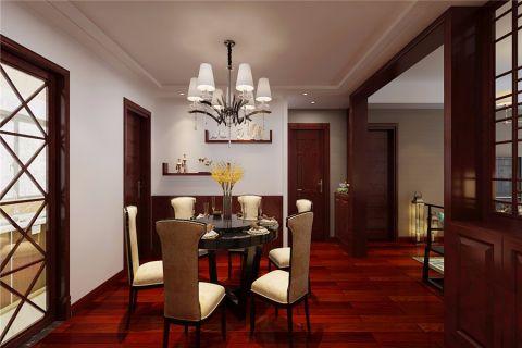 餐厅推拉门中式风格装潢图片