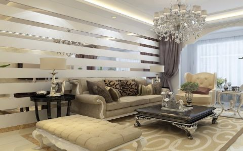 客厅隔断简欧风格装饰图片