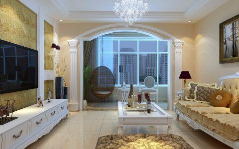 客厅窗台简欧风格装修效果图