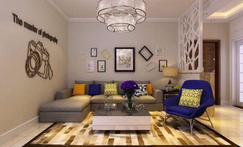2.5万预算75平米两室两厅装修效果图