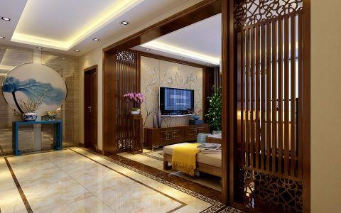 玄关走廊新中式风格装潢设计图片