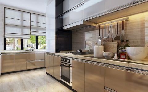 厨房窗帘新中式风格装饰效果图