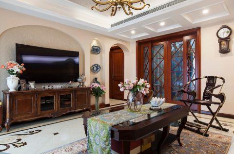 15.6万预算120平米三室两厅装修效果图