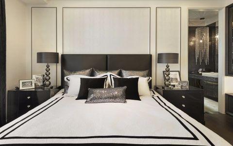 卧室背景墙现代欧式风格效果图