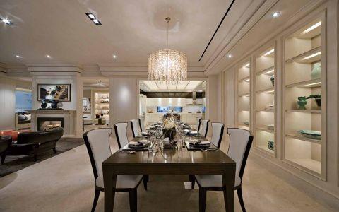 餐厅博古架现代风格装潢效果图