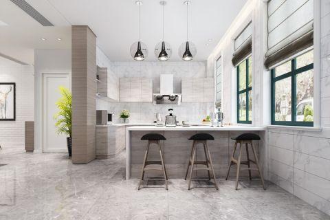 厨房吧台北欧风格装潢设计图片