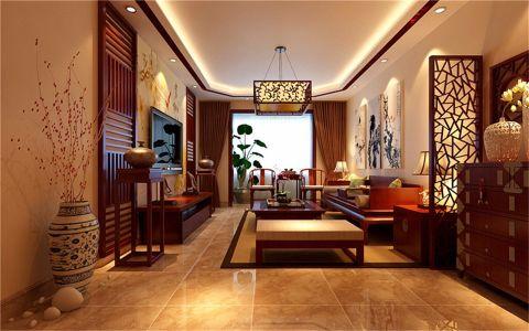 客厅隔断中式风格装饰设计图片