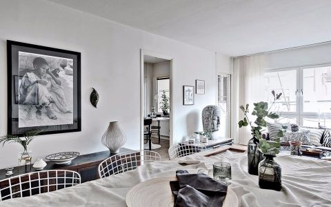 金科天籁城一居室北欧风格效果图