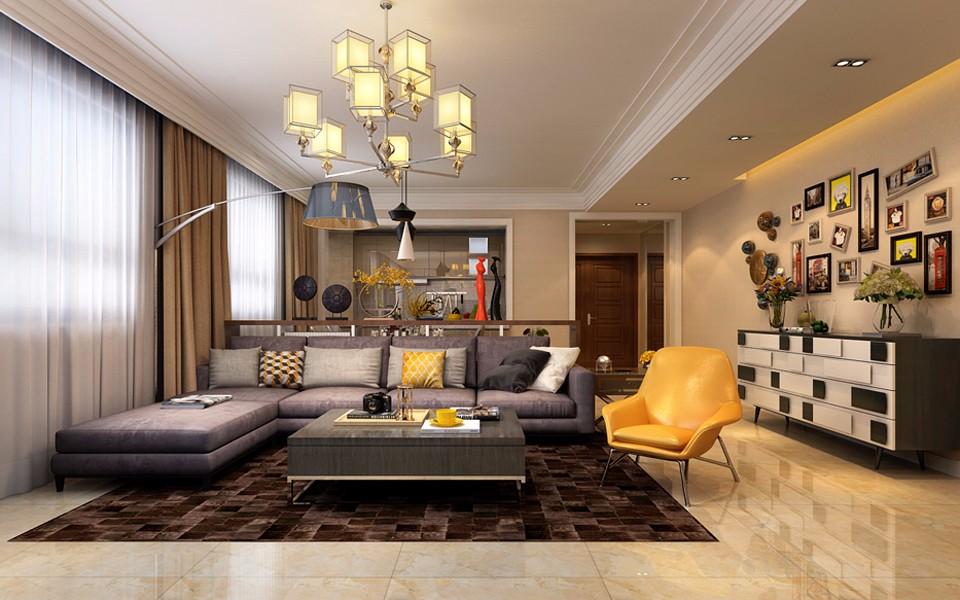 3室1卫2厅140平米现代简约风格