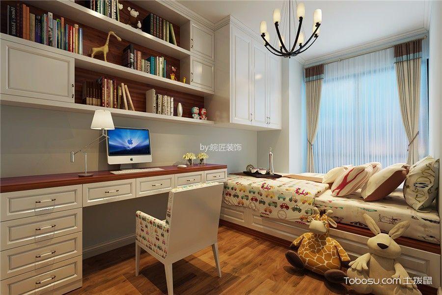 儿童房米色窗帘美式风格装饰效果图
