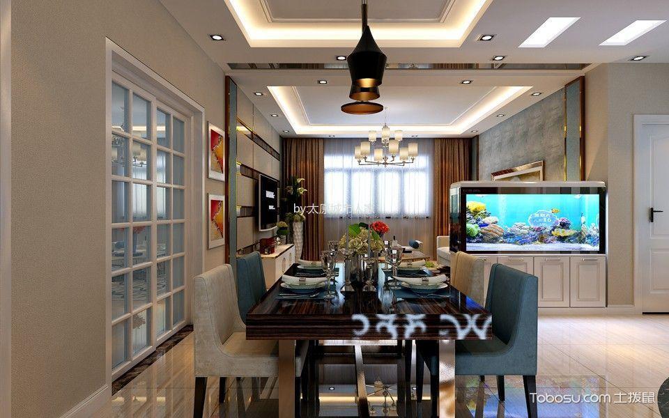 餐厅白色推拉门现代简约风格效果图