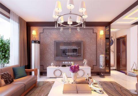 客厅电视柜新中式风格装修设计图片