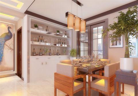 餐厅推拉门新中式风格装饰效果图