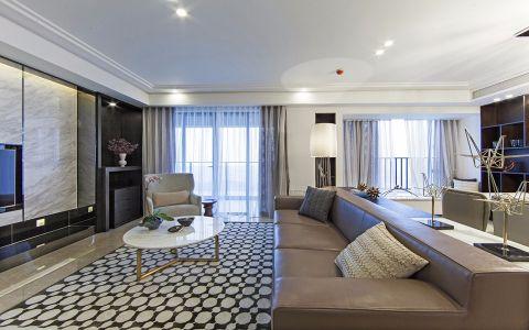 6.35万预算120平米三室两厅装修效果图
