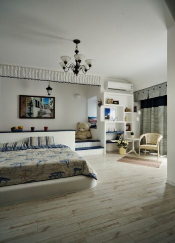 儿童房背景墙地中海风格装饰效果图