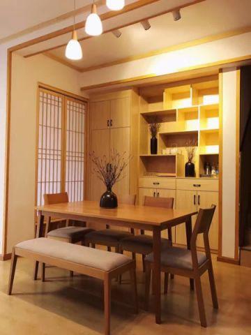 餐厅黄色吊顶日式风格装饰效果图