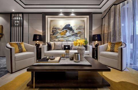 10万预算112平米两室两厅装修效果图