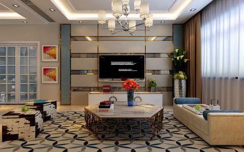 客厅窗帘现代简约风格装修设计图片