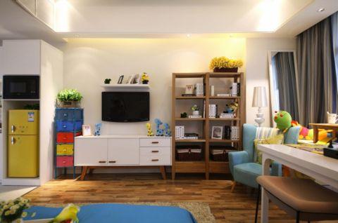 4万预算50平米一居室装修效果图
