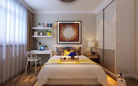卧室书桌现代简约风格装饰图片