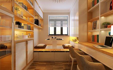 书房榻榻米现代简约风格装潢图片