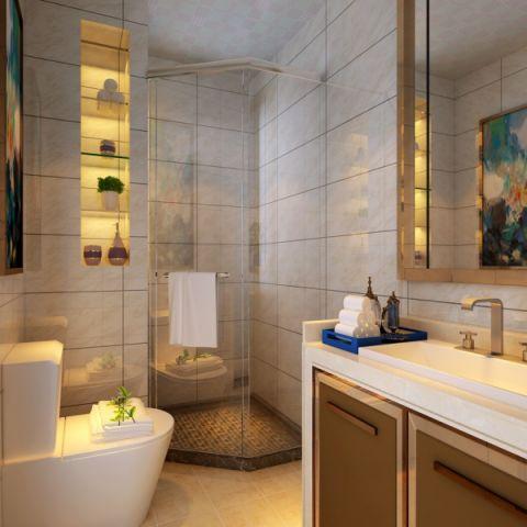 卫生间隔断现代简约风格装饰设计图片