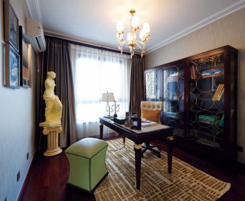 书房窗帘欧式风格装饰图片