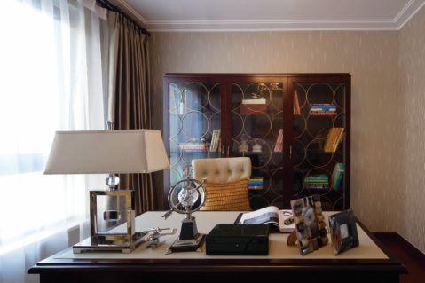 书房书桌欧式风格装潢图片