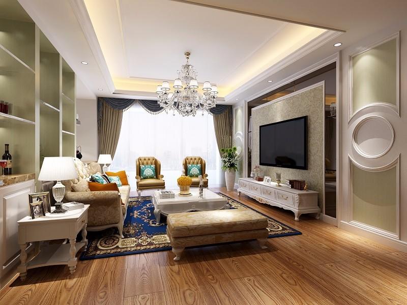 3室2卫1厅125平米简欧风格