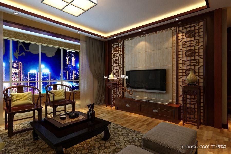 10万预算130平米三室两厅装修效果图
