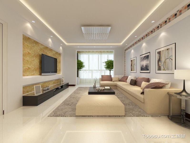 10万预算125平米两室两厅装修效果图