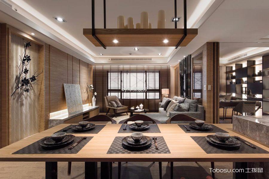 餐厅米色细节新中式风格装修设计图片