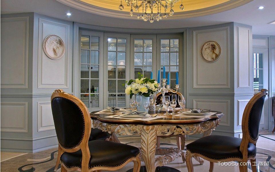餐厅白色推拉门欧式风格效果图