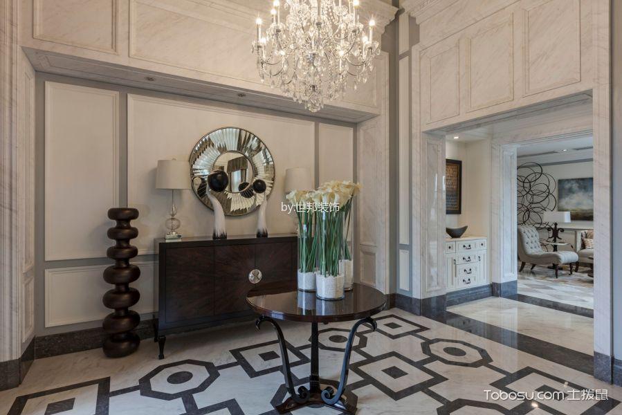 玄关白色门厅混搭风格装修设计图片